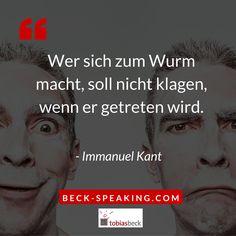 """JETZT FÜR EIN BEWOHNERFREIES LEBEN ANKLICKEN!----------------------  """"Wer sich zum Wurm macht, soll nicht klagen, wenn er getreten wird."""" - Immanuel Kant"""