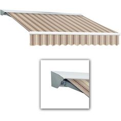 Awntech Beauty-Mark Destin 12' Motorized Retractable Awning, Beige