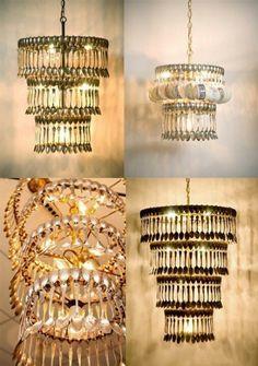 Silverware chandeliers