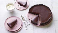 Salted chocolate tart