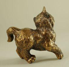 Solid Bronze Cat Miniature by N Fedosov   eBay