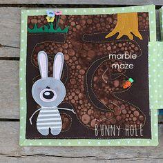 Quiet book Bunny day Bunny hole maze