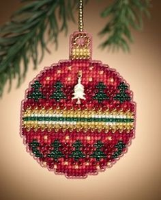 Ruby Forest - Mill Hill Christmas Ornament cross stitch kit