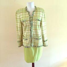 St. John skirt suit Beautiful St. John knit green skirt suit. St. John Skirts Skirt Sets