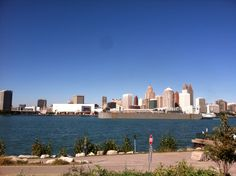 View of Detroit, from Canada
