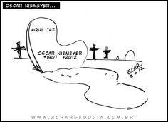 Niemeyer enterrado com curvas