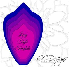 Paper flower SVG files & PDF templates with instructions. Hand cut or use with your cutting machine. This listing includes: 1 extra large template with leaf. ♥ Lucy Style Paper flower as shown. ♥ Printable PDFs, SVG cut files and PNG images included. ♥ Step by step basic method to get you started with color photos and instructions  ♥ Templates in 5 different size petals, (if you wish to create larger or smaller flowers you can add or subtract layers to change the size easily) ♥ Basic…