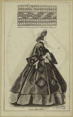 Black Cloth Paletot. Peterson's Magazine, 1863. | In the Swan's Shadow