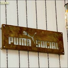 Puma Promotes Brand in Rust & Chain Retail Fixtures, Brand Promotion, Social Club, Rust, Iron, It Is Finished, Play, Chain, Detail