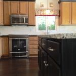 Black island and maple cabinets - great contrast, again!