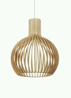 Replica-Seppo-Koho-Octo-Pendant-Lamp-46cm-Birch-Scandinavian-Design-BNIB