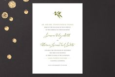 Simple Olive Wedding Invitations by annie clark at minted.com