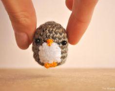 Amigurumi Penguin, Crocheted doll, gift for teens, kawaii penguin, cute keychain, MADE TO ORDER