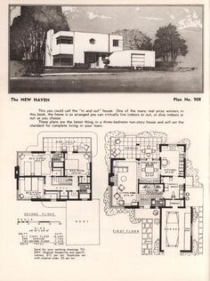 1950 Style Homes art deco style homes from a plan book !!! from the l.f.