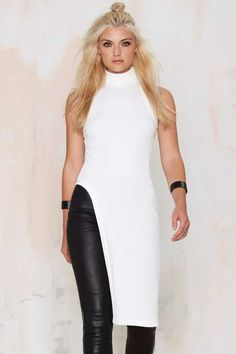 Nasty Gal Day 'n Night Asymmetrical Maxi Tank Top