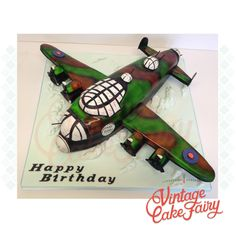 A Lancaster Bomber cake I recently made for a World War veteran, apparently the birthday boy used to maintain things amazing machines during the war! Such an honour to make this cake for him. Boy Birthday, Happy Birthday, Birthday Cake, Lancaster Bomber, Cakes For Boys, How To Make Cake, Cake Ideas, Cake Decorating, Birthdays