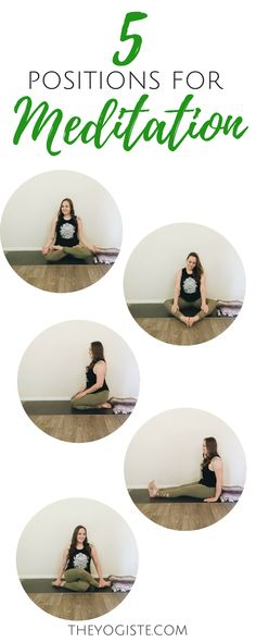 5 Positions to Inspire Your Meditation 5 Positions to Inspire Your Mediation with The Yogiste. poses at home# yoga practice Yoga Meditation, Guided Mindfulness Meditation, Meditation Practices, Yoga Flow, Meditation Quotes, Meditation Space, Yoga Beginners, Meditation For Beginners, Meditation Techniques