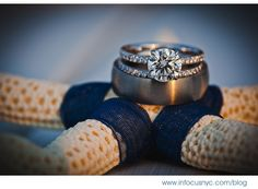 Cute Nautical Idea for the rings pictures