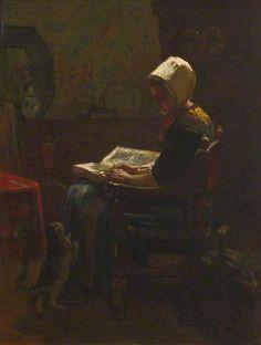The Student  -  Jacobs Henricus Maris  1865  Dutch painter 1837 -1899