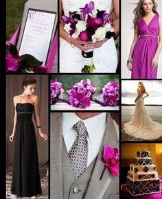magenta and black Wedding colors