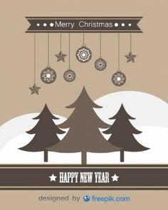 Tarjeta de felicitación de Feliz año nuevo y feliz Navidad