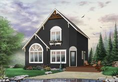 Cozy Cottage Hideaway - 22371DR | 2nd Floor Master Suite, CAD Available, Canadian, Cottage, Metric, PDF, Tiny House, Vacation | Architectural Designs