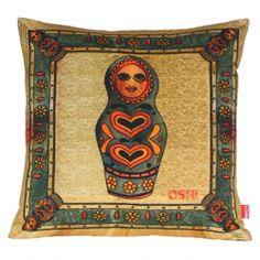 Vintage Kitsch Matryoshka Russian Nesting Doll 45cm Cushion