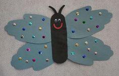 DIY Kids Crafts : DIY Handprint Butterfly Craft for Kids