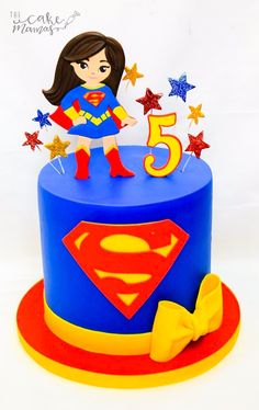 Super Girl Cake Dc Superhero Girls Birthday