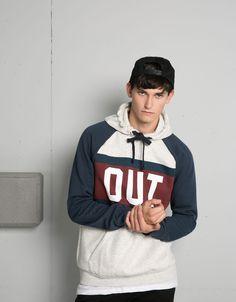 'Suéter capuz.Out & 197.' - Homem - Bershka Portugal
