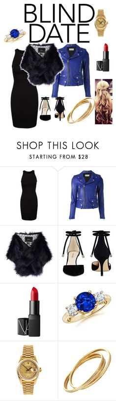 """""""Untitled #197"""" by esseeeeeeee ❤ liked on Polyvore featuring Yves Saint Laurent, Unreal Fur, Nine West, NARS Cosmetics, Rolex and Cartier"""