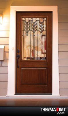Therma Tru Classic Craft Rustic Collection Fiberglass Door With Villager  Decorative Glass.