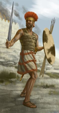 Philistine Warrior 1000 BCE, by Johnny Shumate Philister waren ein Teil der… Bronze Age Collapse, Sea Peoples, Trojan War, Ancient Near East, Iron Age, Ancient Civilizations, Egyptians, Ancient History, European History