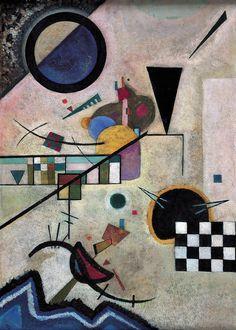 Framed Giclee Print: Contrasting Sounds, 1924 by Wassily Kandinsky : Art Kandinsky, Wassily Kandinsky Paintings, Sound Art, Oil Painting Reproductions, Art Moderne, Art Abstrait, Oeuvre D'art, Art History, Modern Art
