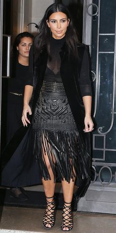 Kim Kardashian Debuts Her North West–Painted Handbag | InStyle.com
