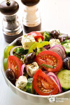 Салат Греческий - Рецепт с фото на Готовим дома
