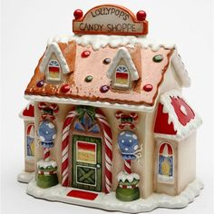 Santa's Village Candy Jar By Laurie Furnell Size: 8 in. x 8 in.H Enjoy this exquisite item from Cosmos Gifts. High quality ceramic construction, Hand wash only. Christmas Cookie Jars, Christmas Gingerbread, Gingerbread Houses, Gingerbread Decorations, Christmas Dishes, Putz Houses, Christmas Decorations, Santa Cookies, Holiday Cookies