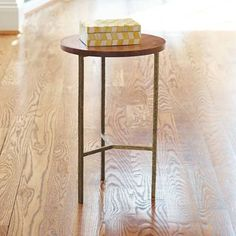 Grandin Road - Wood Side Table - Wood End Table - Wood Nightstand - Wood Accent… Small End Tables, Wood End Tables, Oval Table, Round Side Table, Coffee Tables, Contemporary Side Tables, Wood Nightstand, Wooden Tops, Wood Accents