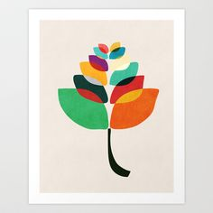 Lotus flower Art Print by Budi Satria Kwan - $19.97