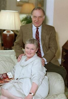 As Time Goes By, my favorite British comedy!  Pictured here - Dame Judi Dench and Geoffrey Palmer.
