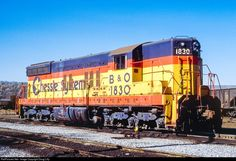 B&O 1830 Baltimore & Ohio (B&O) EMD SD7 at Cumberland, Maryland by Doug Lilly   ..rh