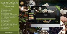 Farm Charm–Stylish WP Theme for Farmer's Markets (WordPress, Corporate, Business)