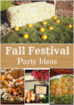 Fall Festival Birthday party ideas ~ a unique party theme for the autumn birthdays