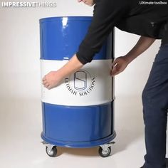 The Ultimate Tool Box - This barrel is actually the ultimate rotating toolbox.