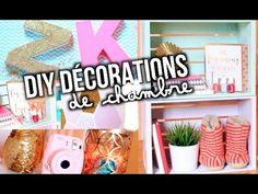 DIY DÉCORATION DE CHAMBRE! CUTE + FACILE!!   Emma Verde - YouTube Diy Tumblr, Emma Verde, Idee Diy, Diy Décoration, Diy Videos, My Room, Creations, Lily, Diy Projects