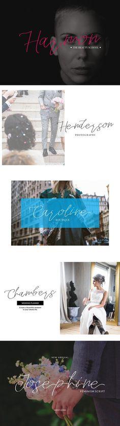Josephine - Feminism Script  #alphabet Script Alphabet, Script Fonts, Cool Fonts, Feminism, Invitations, Graphic Design, Classic, Movie Posters, Character