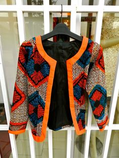 Kiki's Fashion african print blazer ~African fashion, Ankara, kitenge, African women dresses, African prints, African men's fashion, Nigerian style, Ghanaian fashion ~DKK