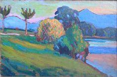 ☼ Painterly Landscape Escape ☼ landscape painting by Gabriele Munter