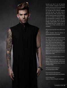 Adam Lambert para Glamoholic Magazine Noviembre 2015 - Male Fashion Trends