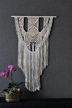 Wild Salt Spirit: Macrame wall hanging, tapestry